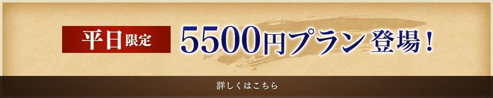 5500円プラン登場